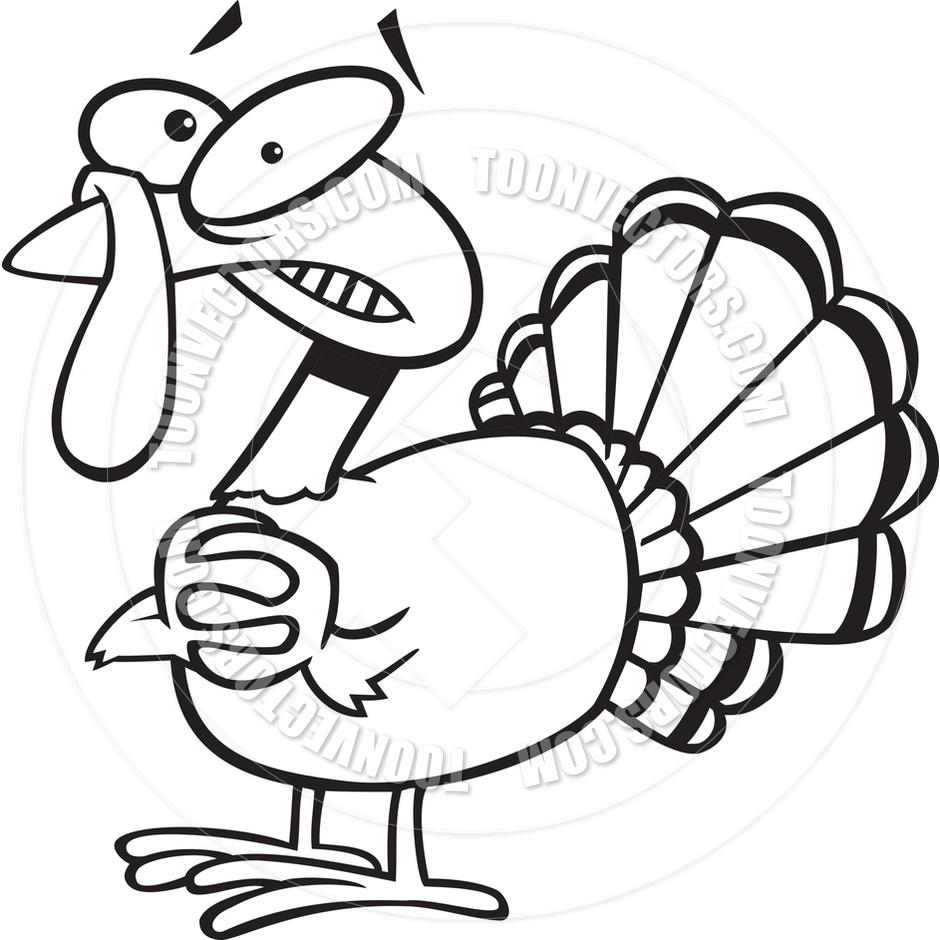 940x940 Turkey Clipart Black And White