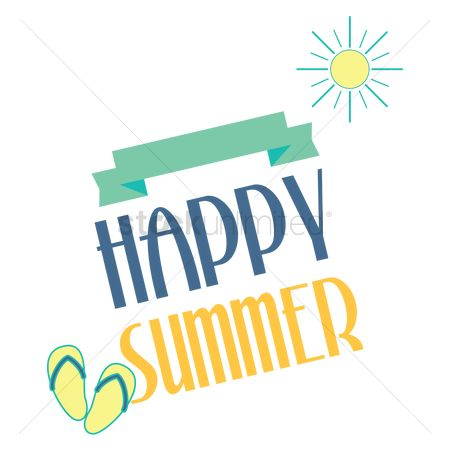Summer happy. Vacation clipart free download