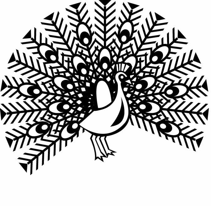 673x657 Hard Peacock Coloring Pages Clipart Panda