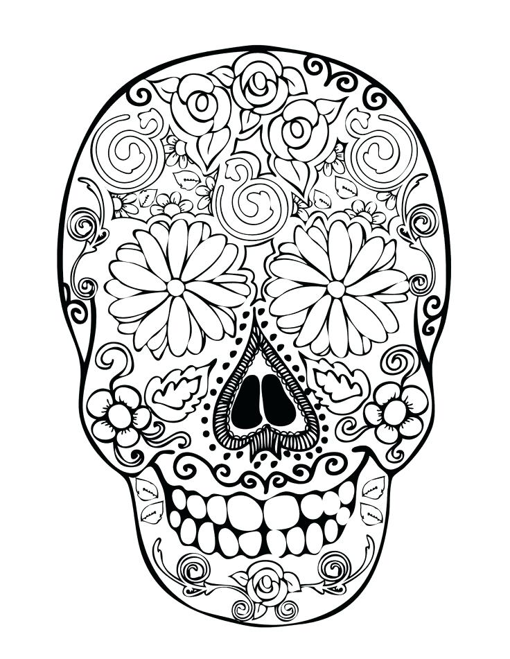 736x951 Outstanding Excellent Coloring Pages Skulls Best Of Sugar Skull