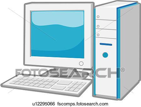 450x342 Clip Art Of Desktop, Monitor, Computer Hardware, Diagram, Computer