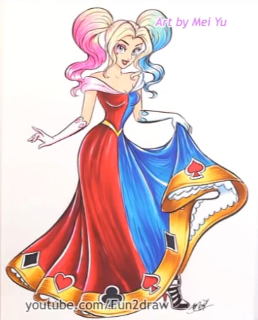 881x1094 Harley Quinn As A Disney Princess By Mei Yu Harley Quinn New