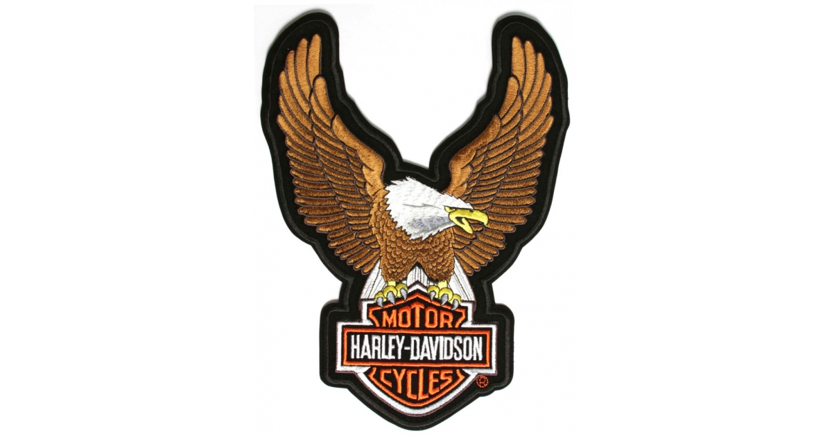 1200x630 Harley Davidson Large Brown Eagle Patch The Cheap Place