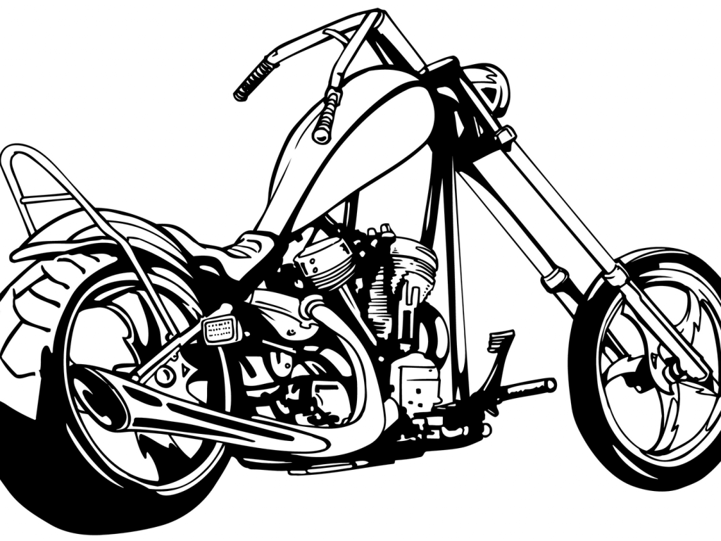 Harley davidson white. Clipart free download best