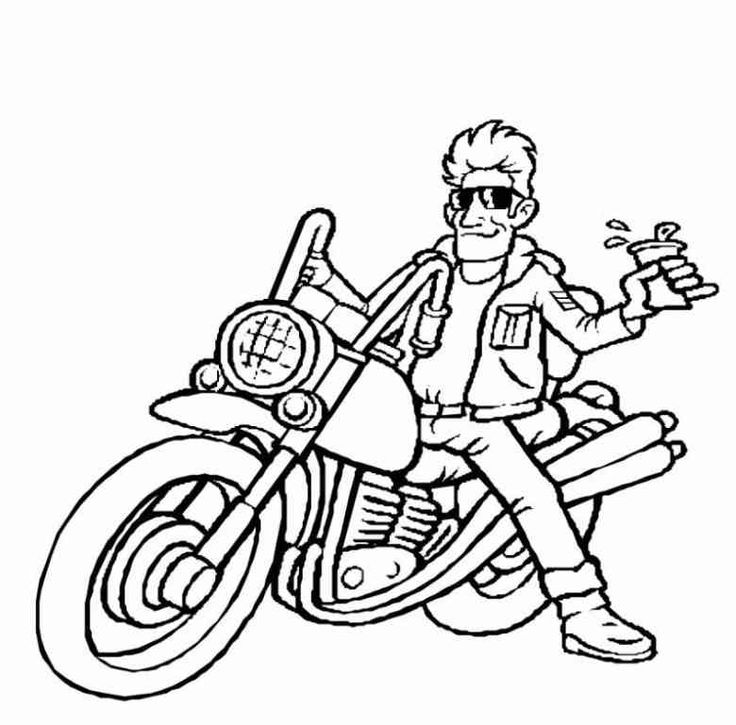Harley Davidson Line Art
