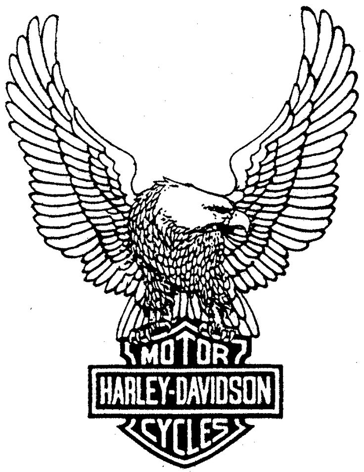 This is an image of Unusual Printable Harley Davidson Logo