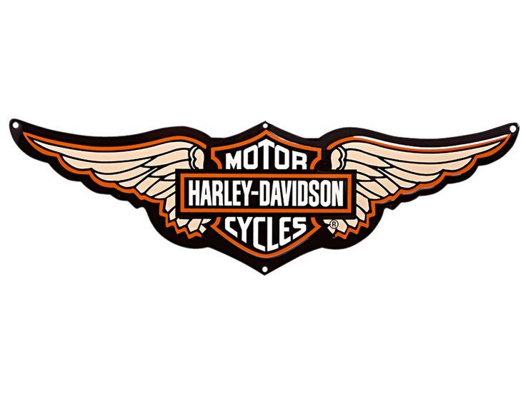 736x552 Harley Davidson Harley Davidson Schild Logo With Wings 99350