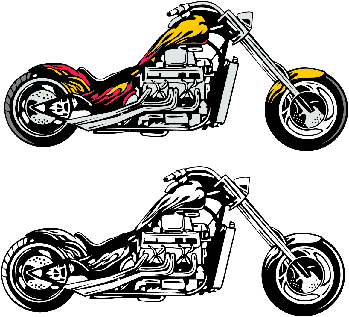 Harley Motorcycle Clipart