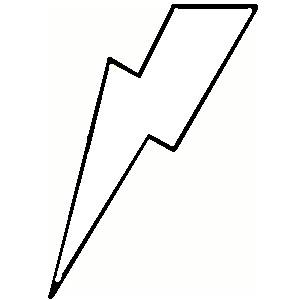 300x300 Lightning Bolt Outline Clip Art