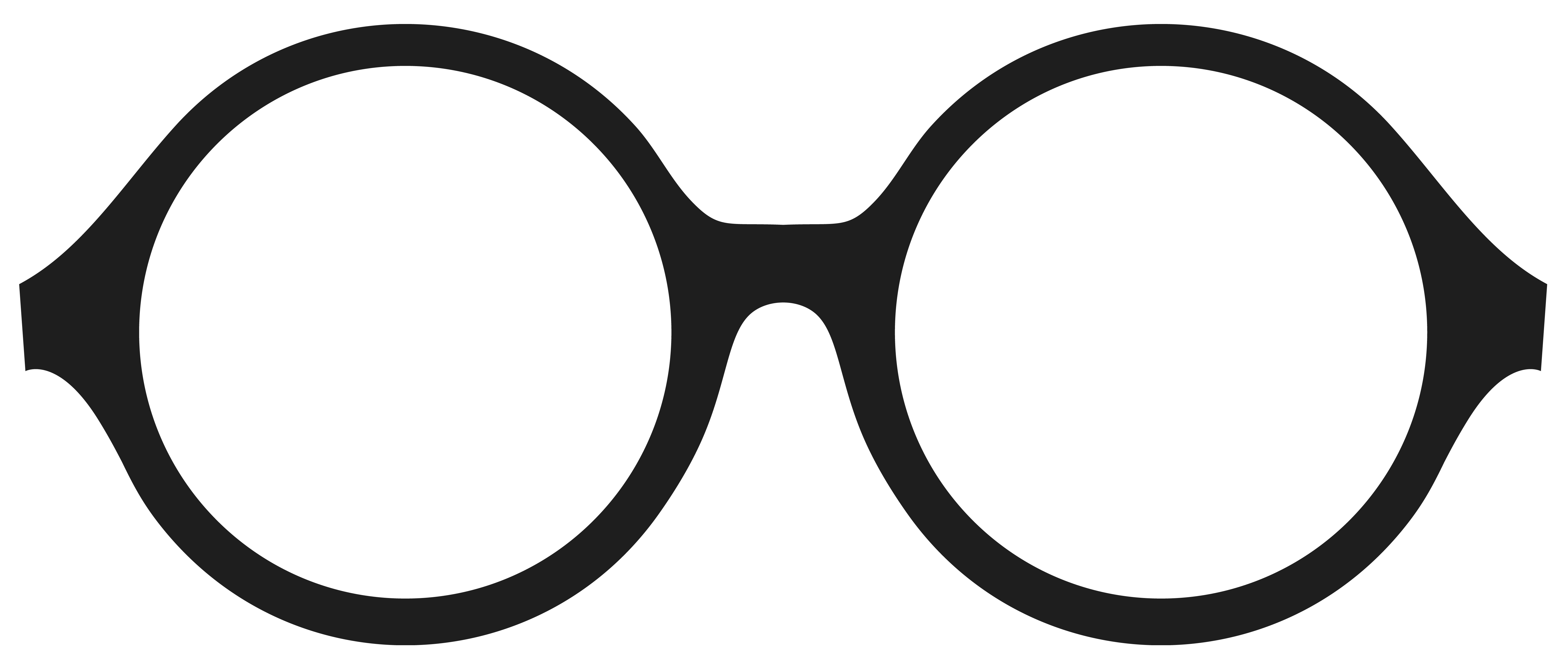 5885x2498 Spectacles Clipart Round Glass
