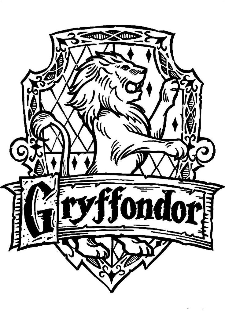 736x1014 Download And Print Symbol Of Gryffondor A Standing Lion Harry