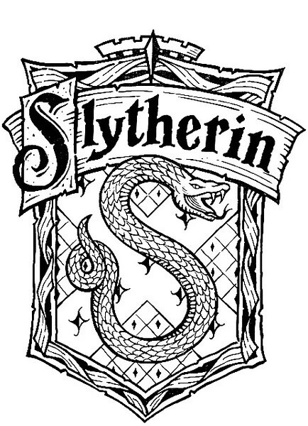 434x600 Slytherin Logo Tejidos Harry Potter And