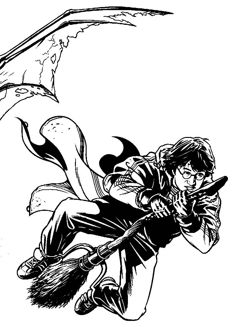 Harry Potter Coloring Pages Quidditch Harry Potter Coloring ...