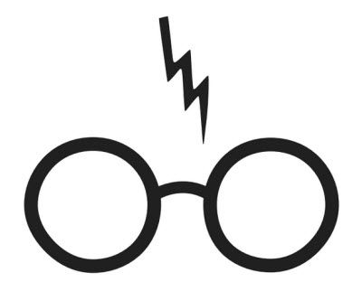 400x312 Harry Potter Lightning Scare Sticker, Vinyl, Decal, Wall Sticker