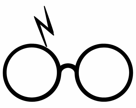 570x455 Harry Potter Decal Glasses With Lightning Bolt Scar