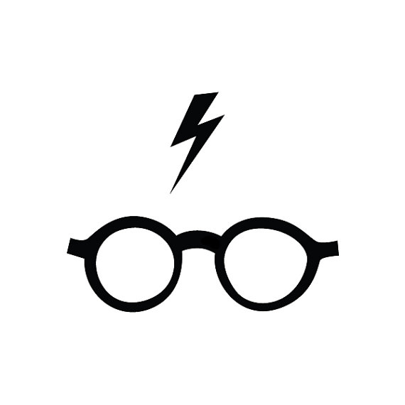 570x570 Harry Potter Glasses Temporary Tattoo Set Of 2