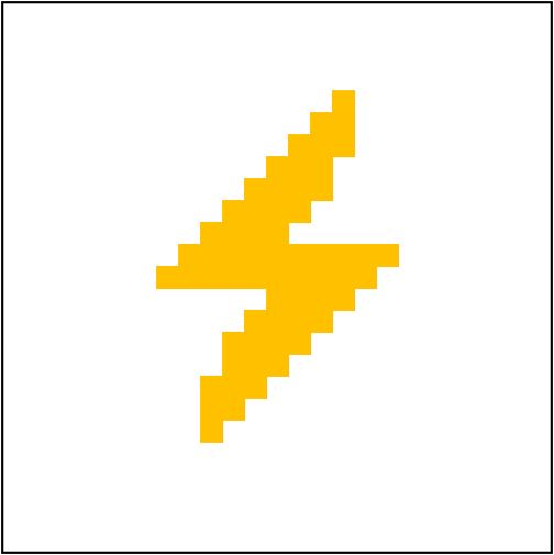 504x505 Alternate Square Lightning Bolt (Harry Potter Cal)