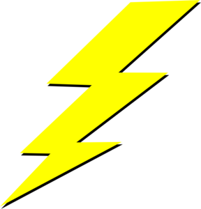 288x300 Lightening Bolt Clip Art