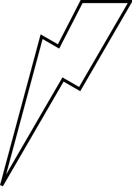 420x598 Lightening Bolt Clip Art