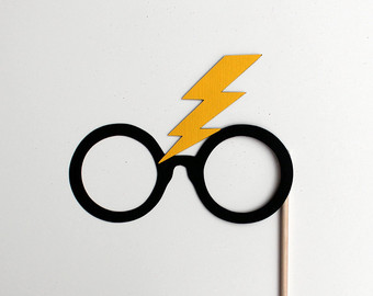 picture regarding Harry Potter Glasses Printable called Harry Potter Lightning No cost obtain easiest Harry Potter