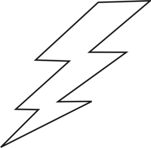 300x294 Bolt Of Lightning Clipart