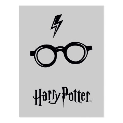 400x400 Harry Potter Glasses And Quill Postcard
