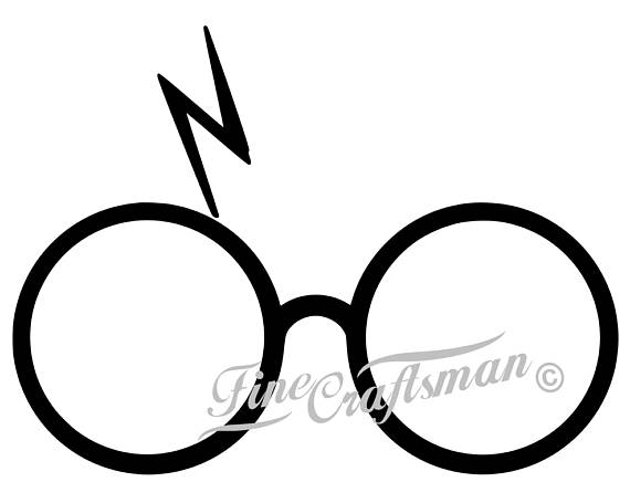 570x455 Harry Potter Decal Glasses With Lightning Bolt Scar Yeti Cup