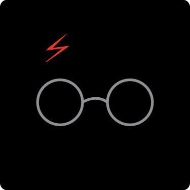 375x375 Harry Potter Glasses Clipart