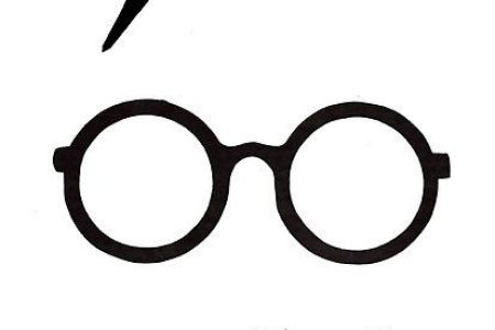 450x300 Harry Potter Glasses Print, Harry Potter Glasses Scar