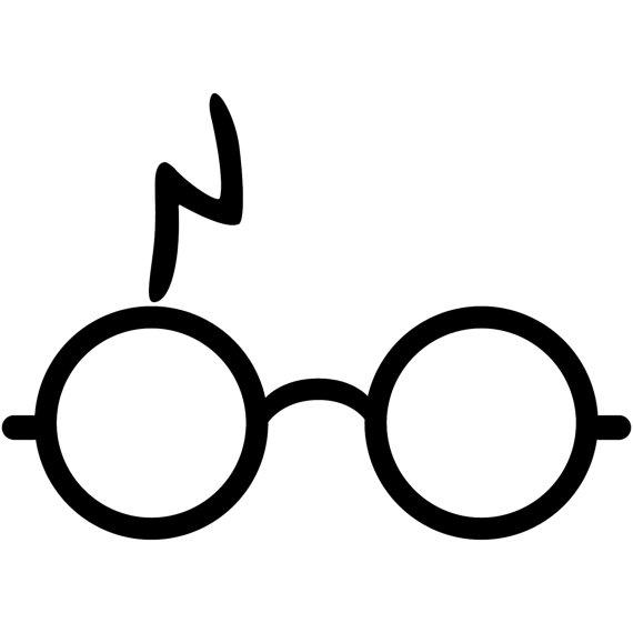 570x570 Harry Potter Wizard Glasses Lightning Bolt V1 Decal Sticker