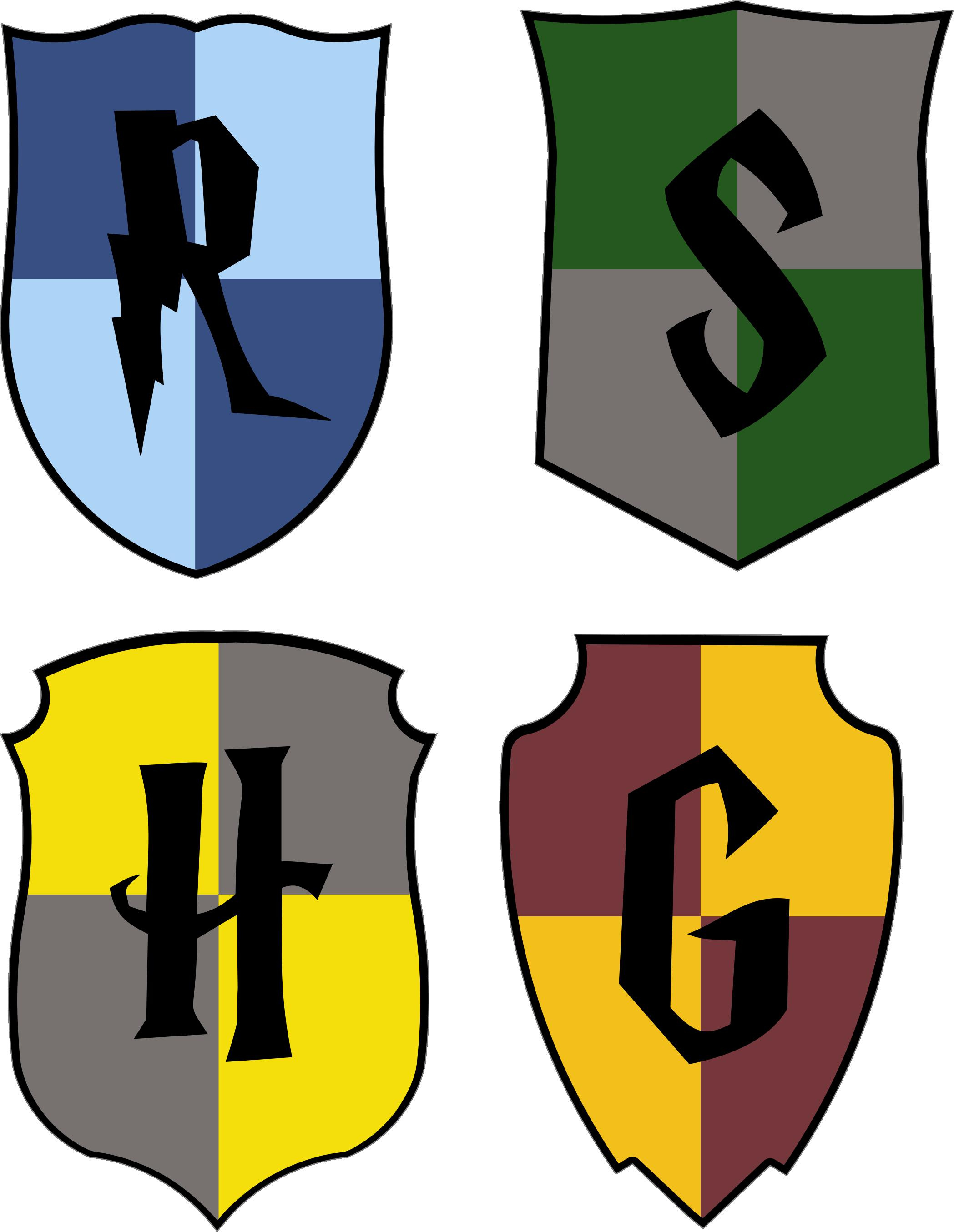 2097x2709 House Crest Cut Files. Harry Potter Paper Projects Cutting