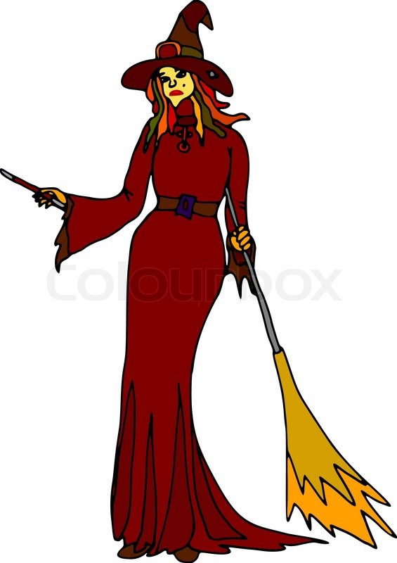 565x800 Witches Wand Clipart