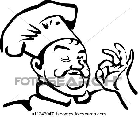 450x383 Clip Art Of Chef With A Hat U11243047