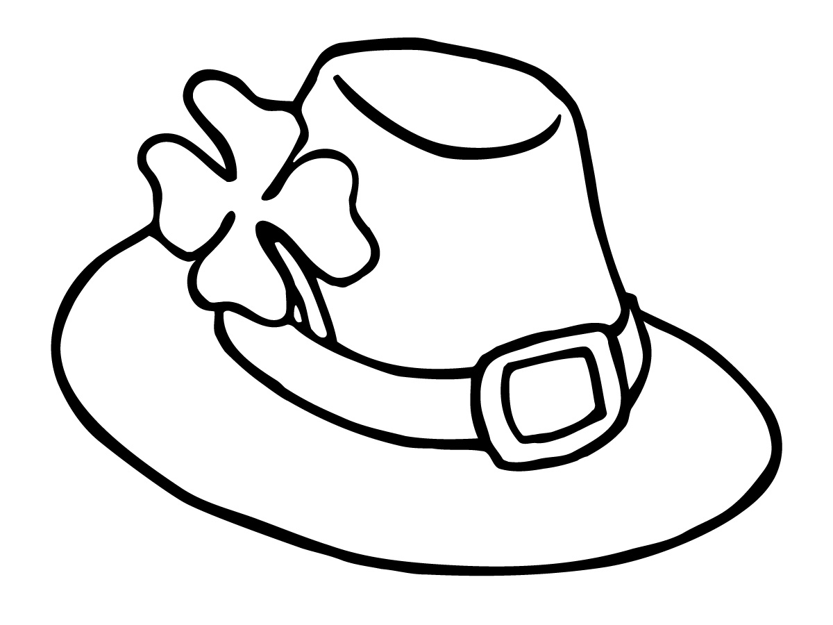 1200x900 Hat Black And White Hat Clip Art Black And White Free Clipart