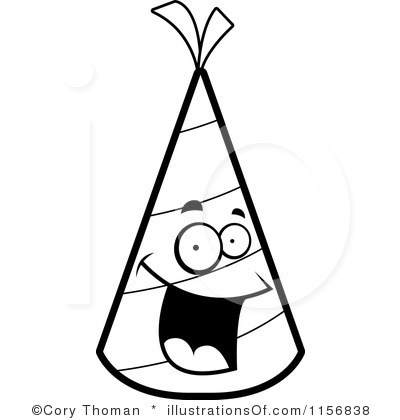 400x420 Party Clipart Black And White
