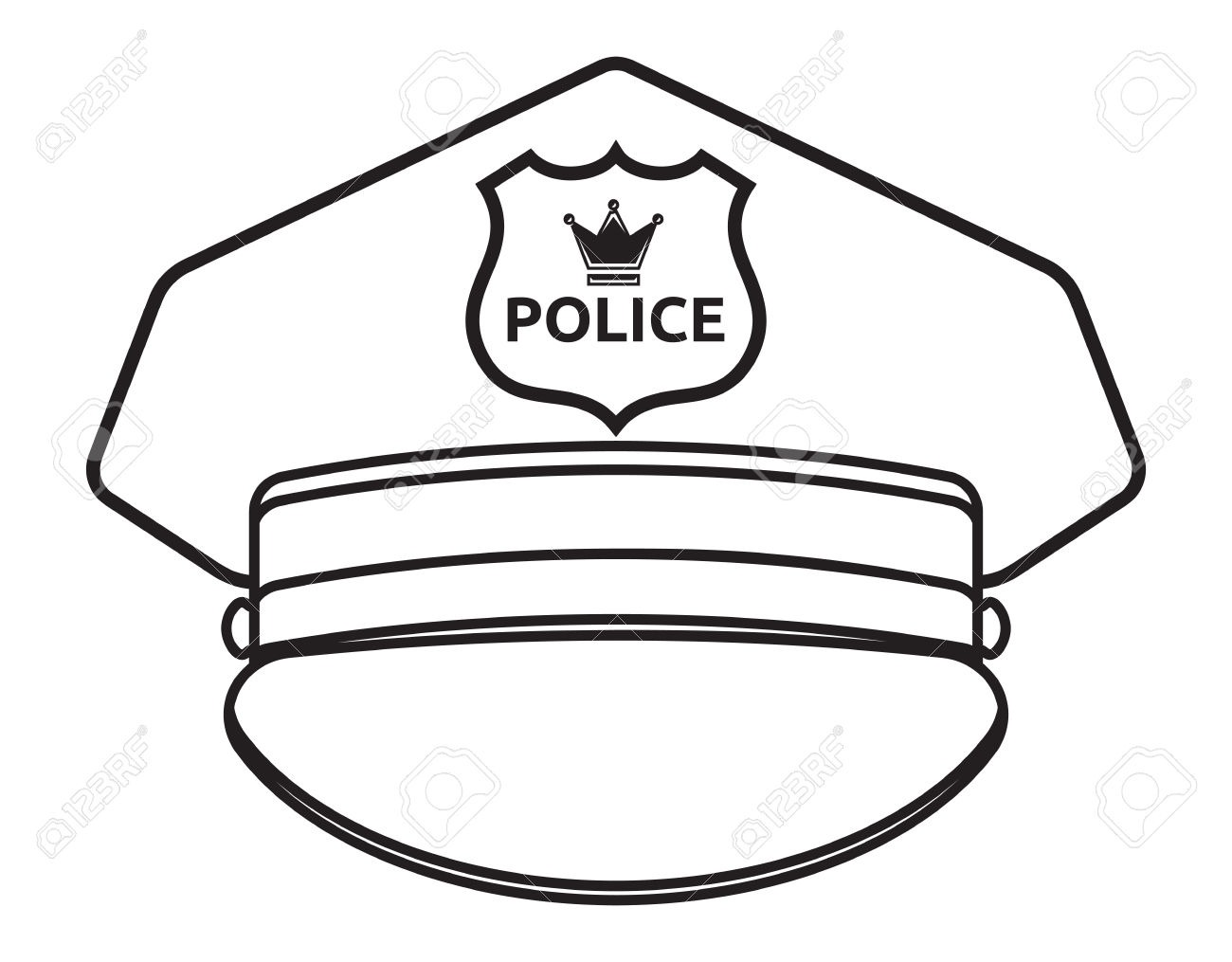 1300x1015 Police Hat Clipart Black And White Letters Format
