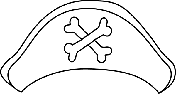 600x320 Black And White Pirate Hat Clip Art
