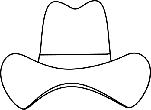 500x366 Black And White Simple Cowboy Hat Clip Art