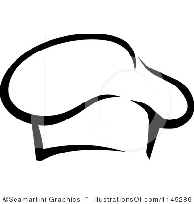 400x420 Chef Hat Black And White Clipart