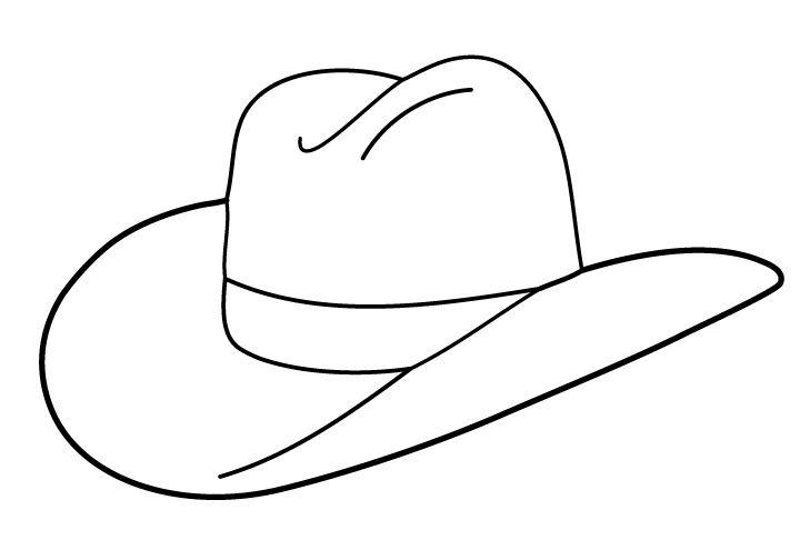 720x504 Cowboy Hat Outline Clip Art