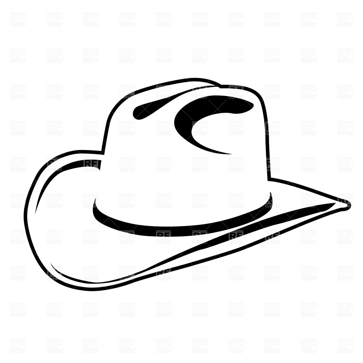 1200x1200 Cowboy Hat Blackwboy Hat Clipart Kid