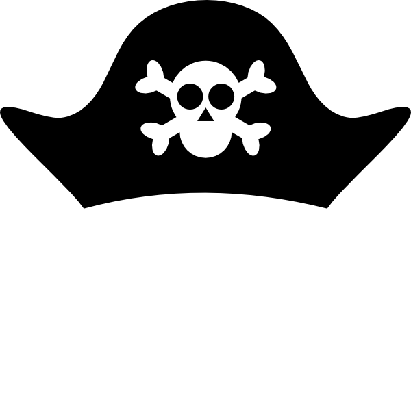 600x577 Free Pirate Clipart Black And White Image