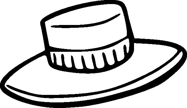 600x346 Hat Outline Clip Art