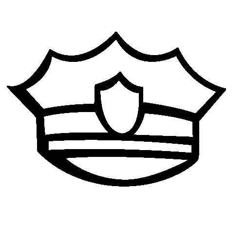 505x470 Police Hat Clipart Black And White Letters Format