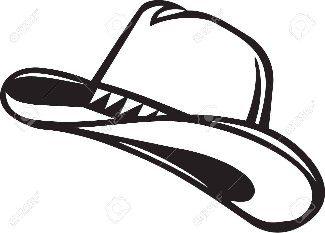 1300x933 Straw Hat Clipart Black And White