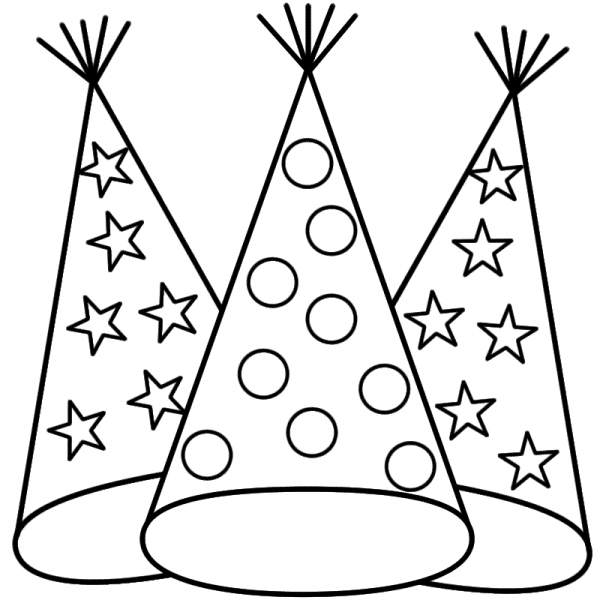 600x600 Birthday Hat Clipart Black And White 4 Nice Clip Art