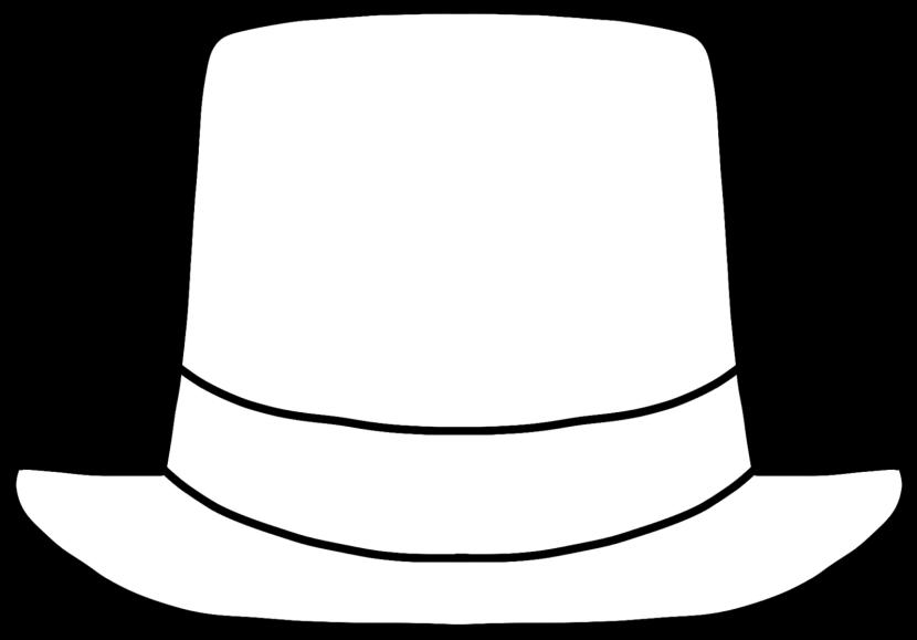 830x579 Hat Clipart Outline