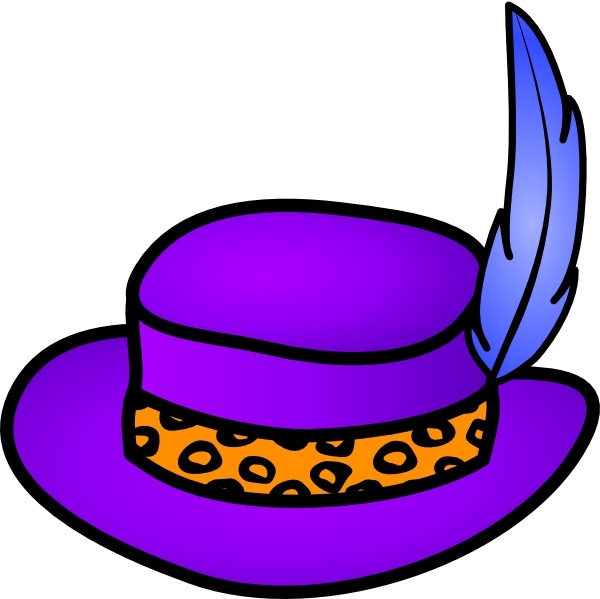 600x599 Pimp Hat Clip Art Free Vector In Open Office Drawing Svg ( Svg