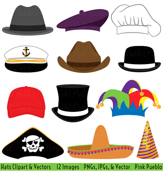 570x598 Types Of Hats Clipart