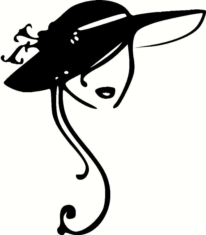 876x999 Vintage Ladies Hats Clip Art Clipart Illustrations